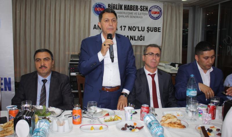 Ankara 17 No'lu Şube Üyeleri İftarda Bir Araya Geldiler