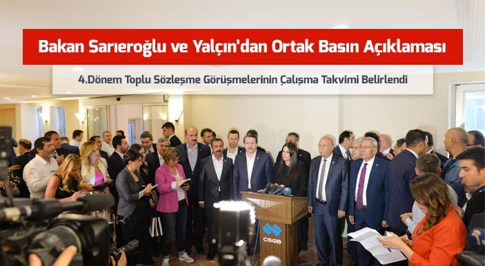 Bakan Sarıeroğlu ve Yalçın'dan Ortak Basın Açıklaması