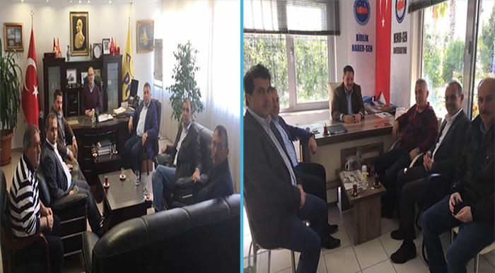 Başkanlarımız, Adana ve Mersin Başkanlarımıza Taziye Ziyaretinde Bulundular