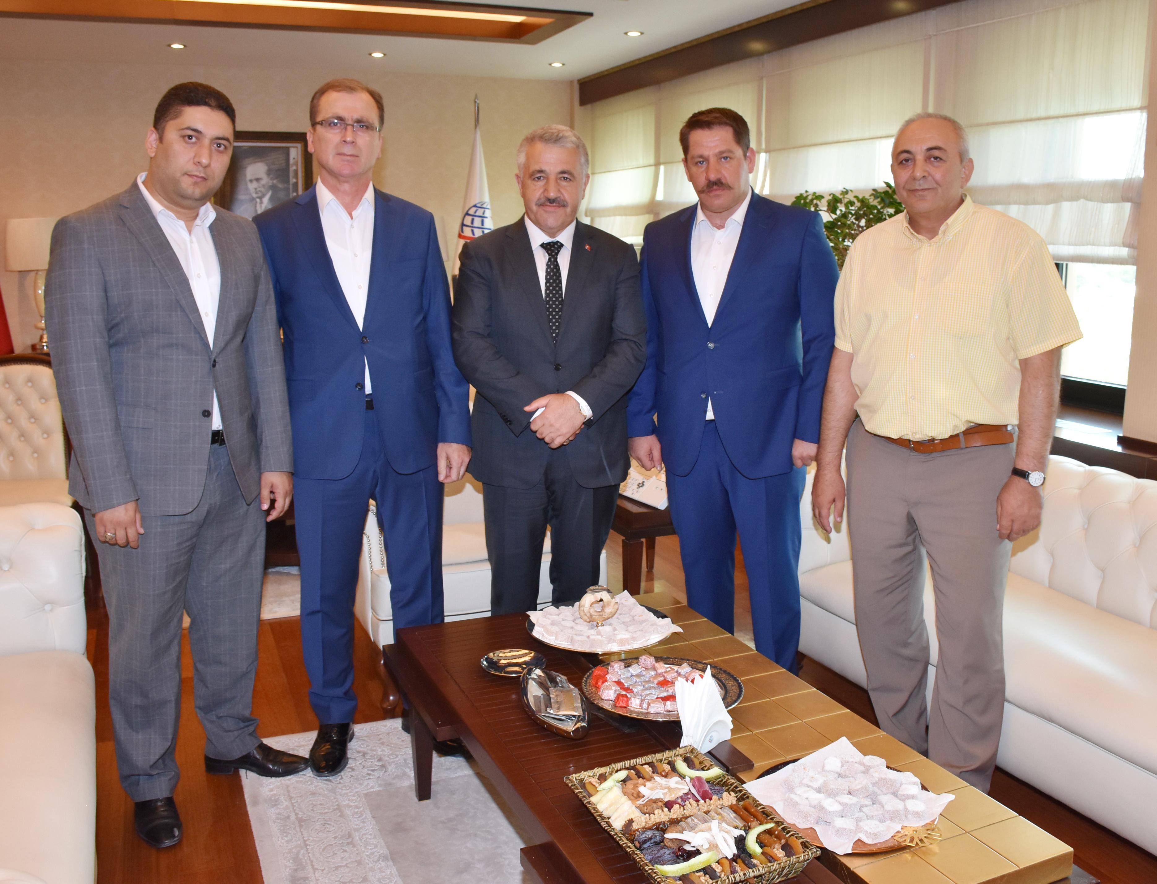 Başkanlarımız, Bakan Arslan'a Taziye Ziyaretinde Bulundular