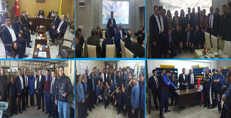 Başkanlarımız Erzurum'da Bir Takım Ziyaretlerde Bulundular
