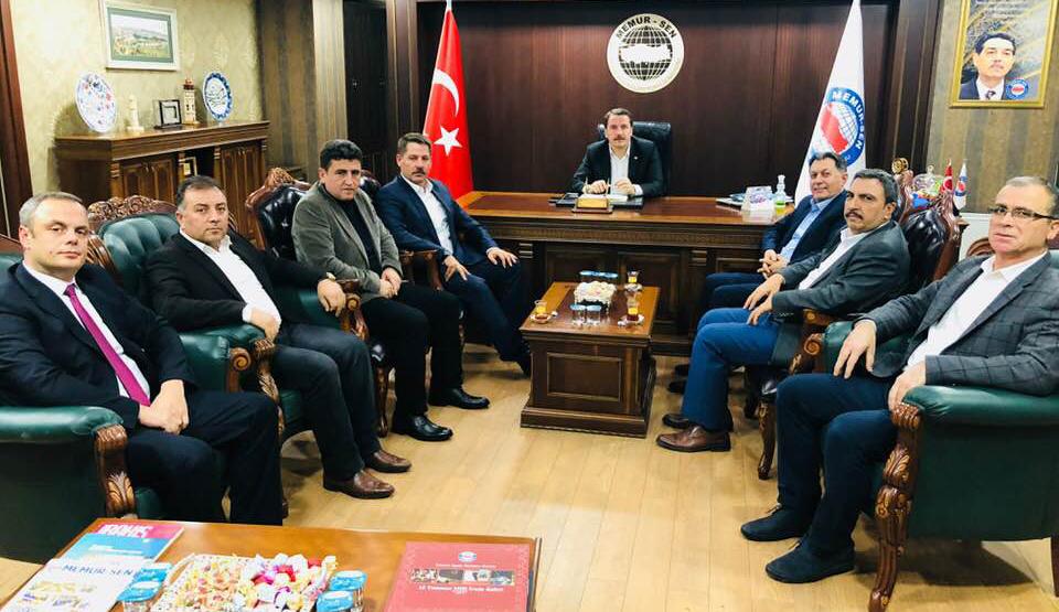 Başkanlarımız Memur-Sen Genel Başkanı Yalçın'ı Ziyaret Ettiler