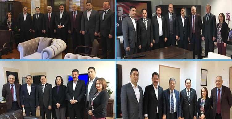 Başkanlarımız PTT A.Ş. Daire Başkanlarına Hayırlı Olsun Ziyaretinde Bulundular