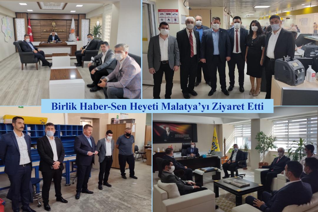 Birlik Haber-Sen Heyeti Malatya'yı Ziyaret Etti