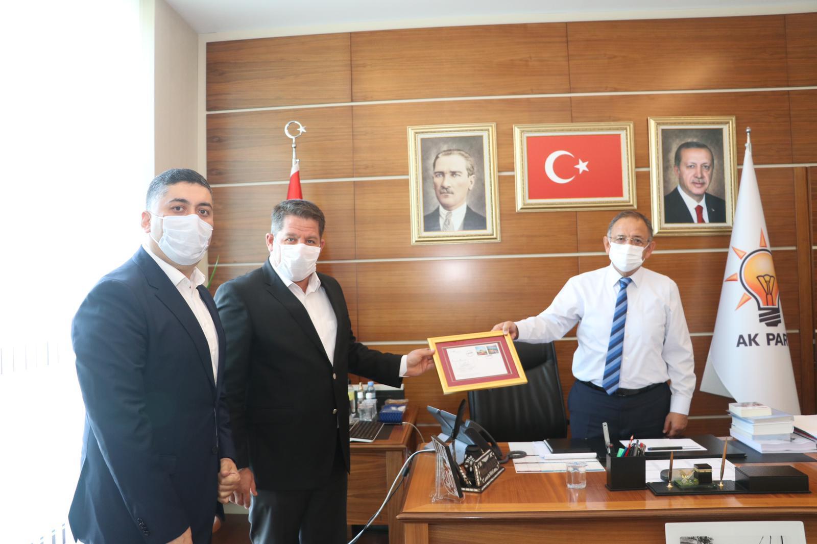 Birlik Haber-Sen Heyeti Mehmet Özhaseki'yi Ziyaret Etti