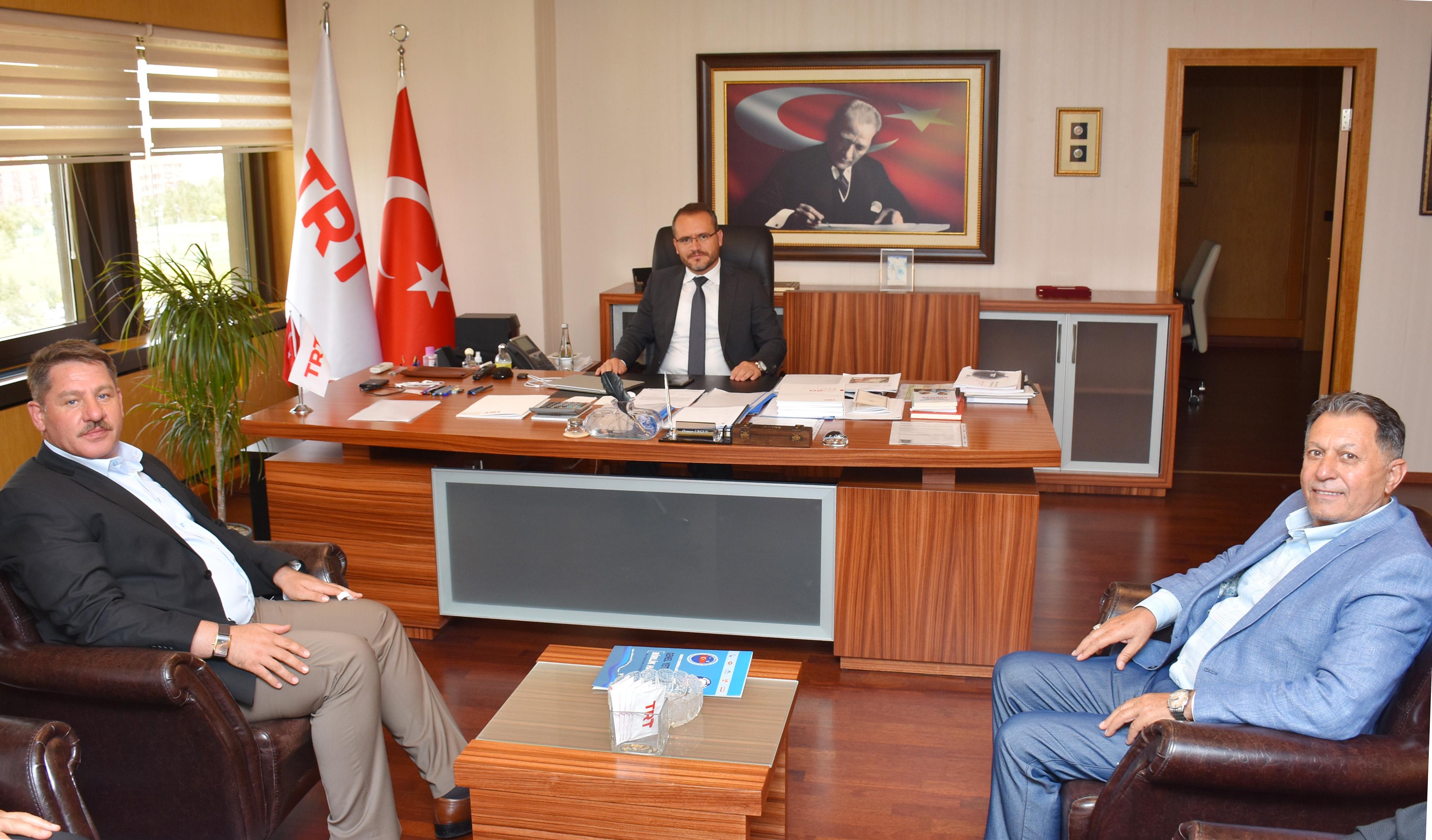 Birlik Haber-Sen Heyeti TRT Genel Müdür Yardımcısı Urgun'u Ziyaret Etti