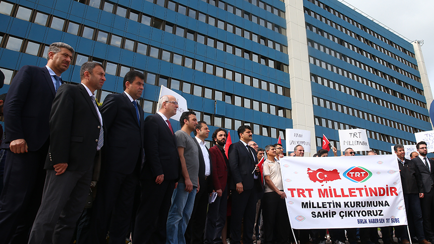 Birlik Haber-Sen, TRT çalışanlarına yönelik saldırıyı protesto etti