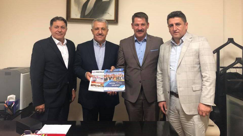 Birlik Haber-Sen'den Kars Milletvekili Arslan'a Ziyaret