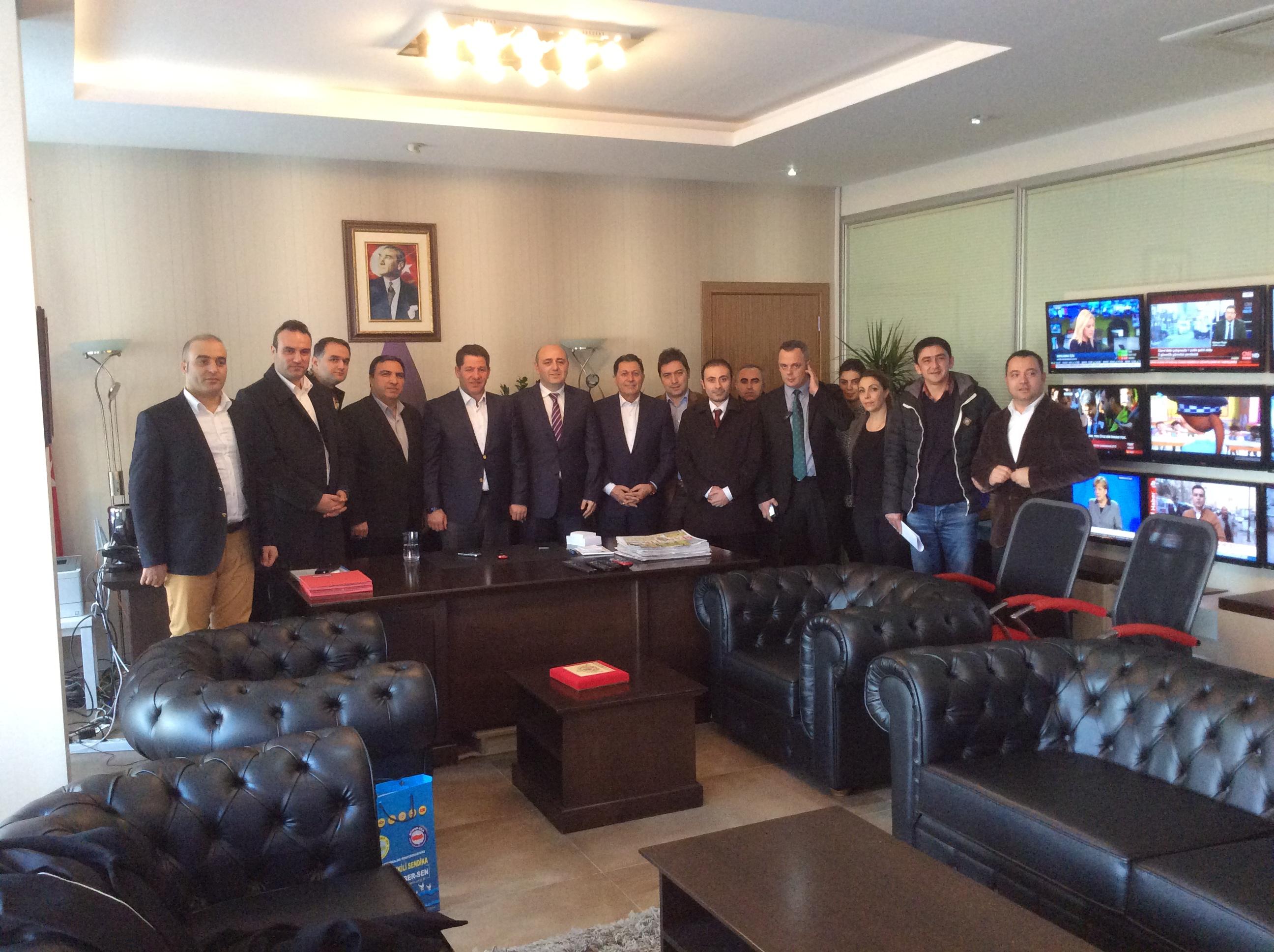 BİRLİK HABER-SEN'DEN TRT'YE ZİYARET