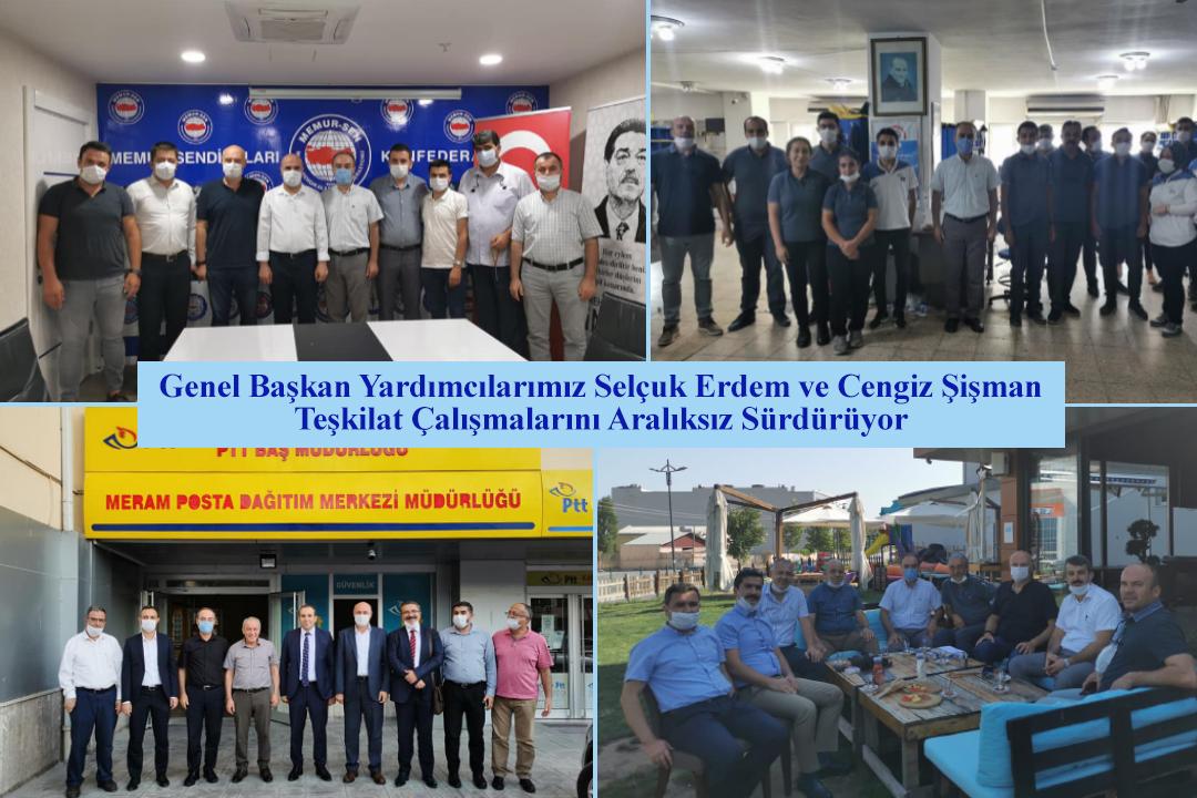 Genel Başkan Yardımcılarımız Selçuk Erdem ve Cengiz Şişman Teşkilat Çalışmalarını Aralıksız Sürdürüyor