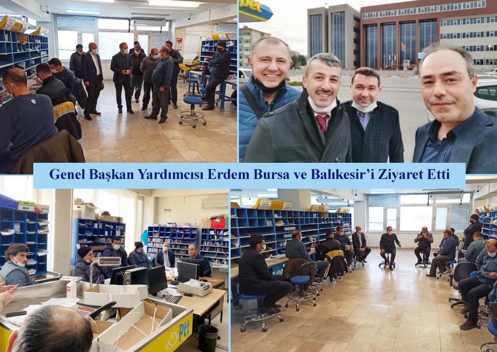 Genel Başkan Yardımcısı Erdem, Bursa ve Balıkesir'i Ziyaret Etti