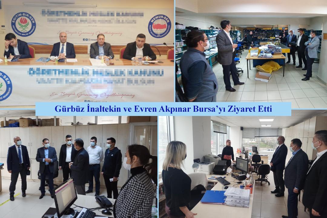 Gürbüz İnaltekin ve Evren Akpınar Bursa'yı Ziyaret Etti