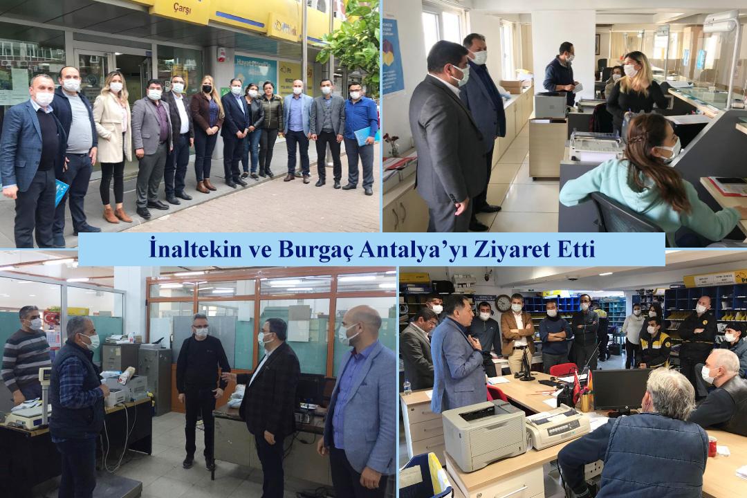 İnaltekin ve Burgaç Antalya'yı Ziyaret Etti