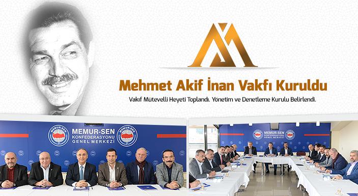 Mehmet Akif İnan Vakfı Hayırlı Olsun