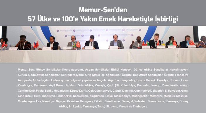 Memur-Sen'den 57 Ülke ve 100'e Yakın Emek Hareketiyle İşbirliği