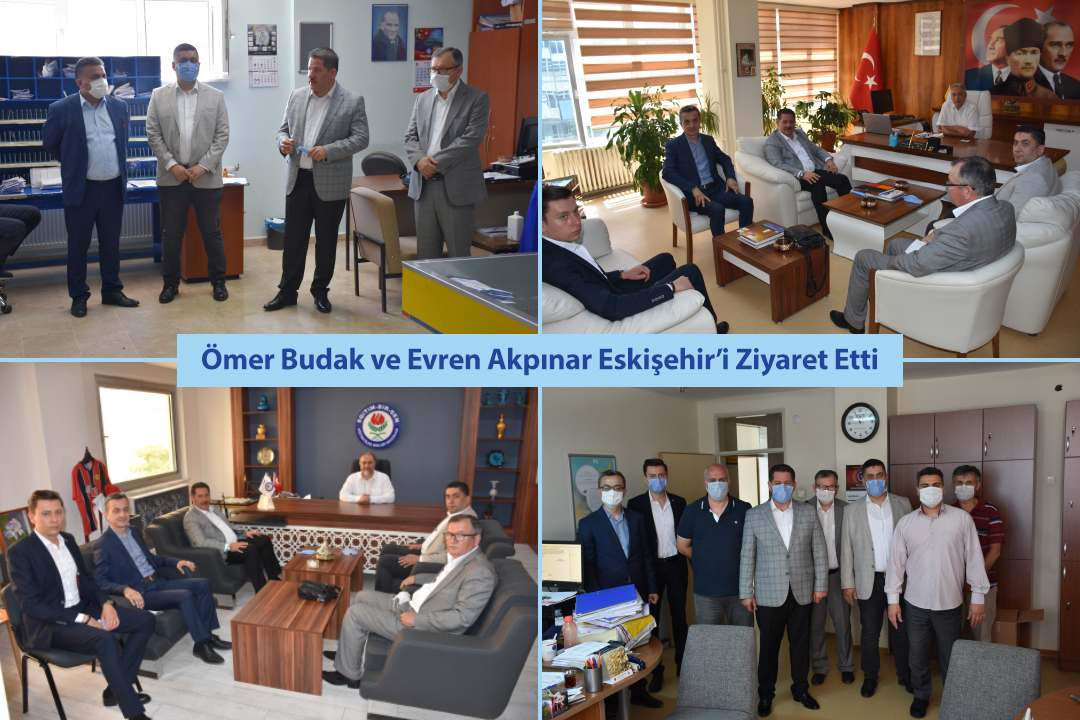 Ömer Budak ve Evren Akpınar Eskişehir'i Ziyaret Etti