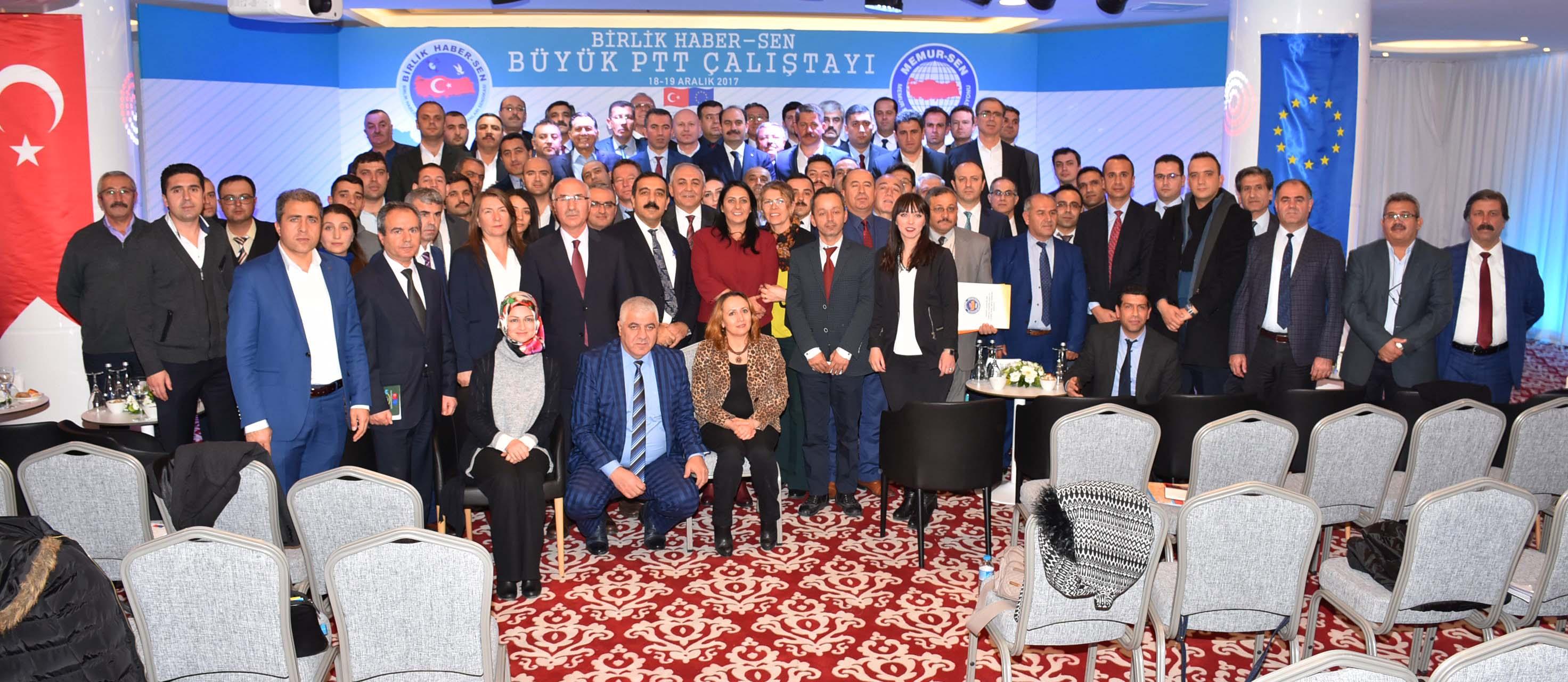 """PTT A.Ş Çalışanlarının Sorunlarının Tartışıldığı """"Büyük PTT A.Ş Çalıştayımız"""" Tamamlandı"""