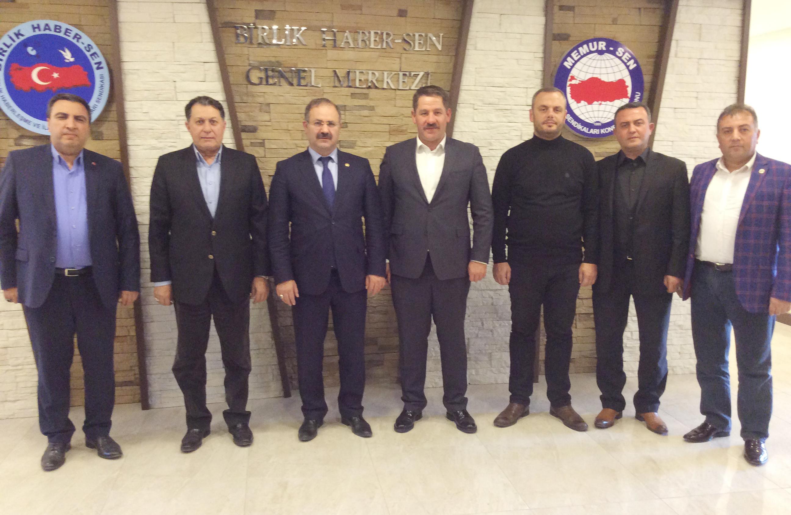 PTT A.Ş. ve TRT KİT Komisyonu Başkan Vekili Deligöz' den Sendikamıza Ziyaret