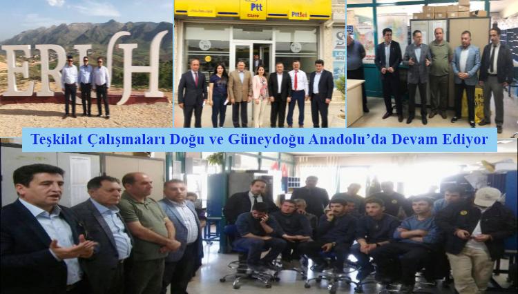 Teşkilat Çalışmaları Doğu ve Güneydoğu Anadolu'da Devam Ediyor