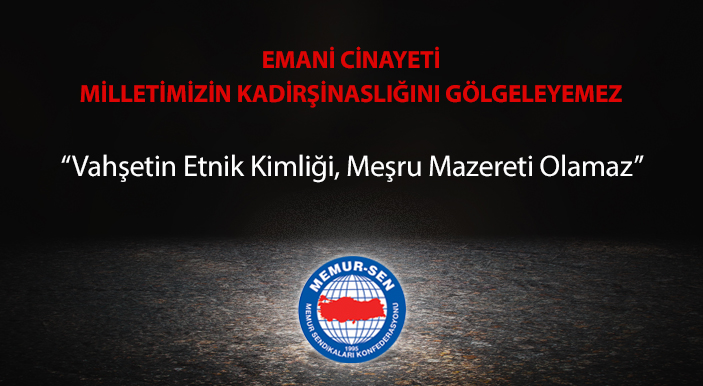 """""""Vahşetin Etnik Kimliği, Meşru Mazereti Olamaz"""""""