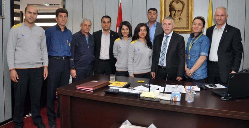 Birlik Haber-Sen Antalya Şubesi'nden Başmüdür Kaplan'a Ziyaret