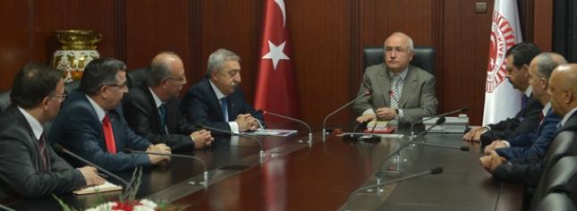 Türkiye-AB Karma İstişare Komitesi'nden TBMM Başkanı Çiçek'e Ziyaret