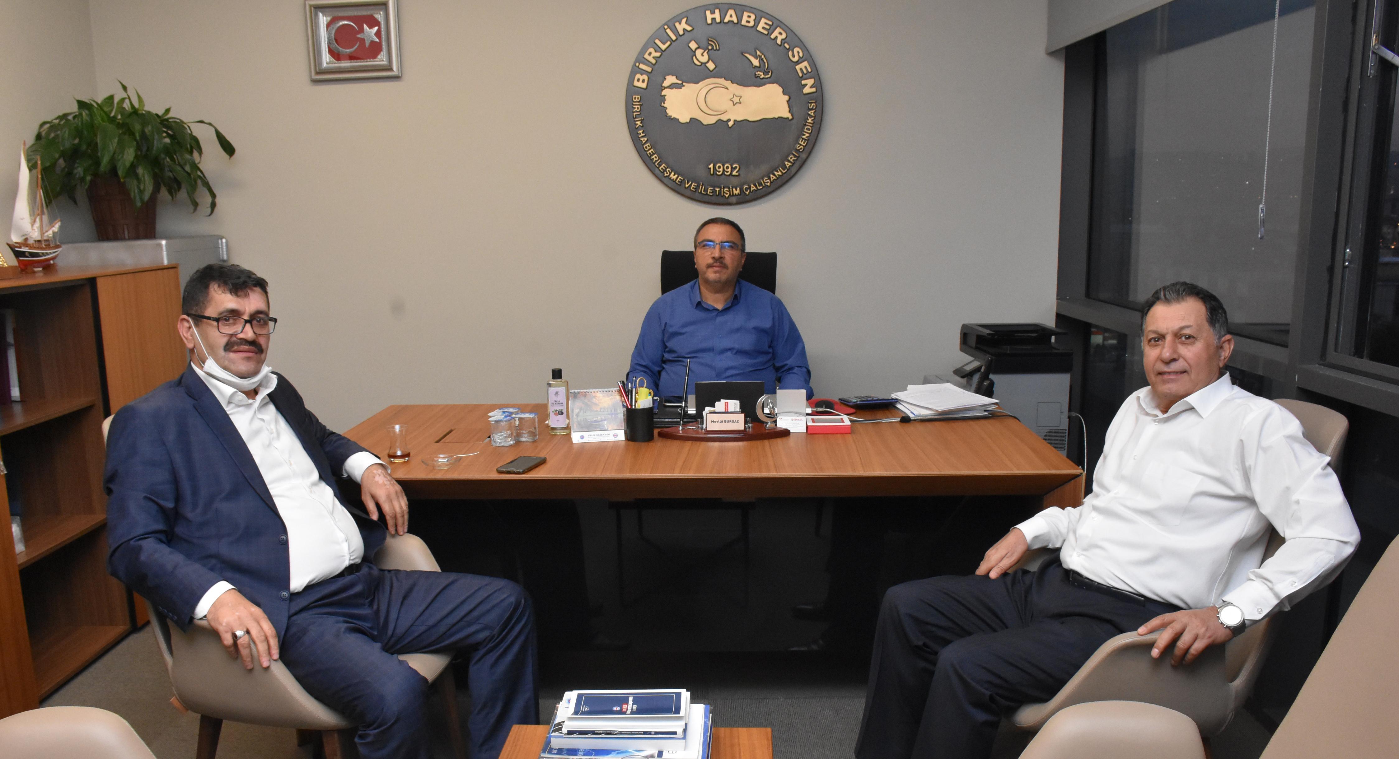 Ali Erdoğan'dan Birlik Haber-Sen'e Ziyaret