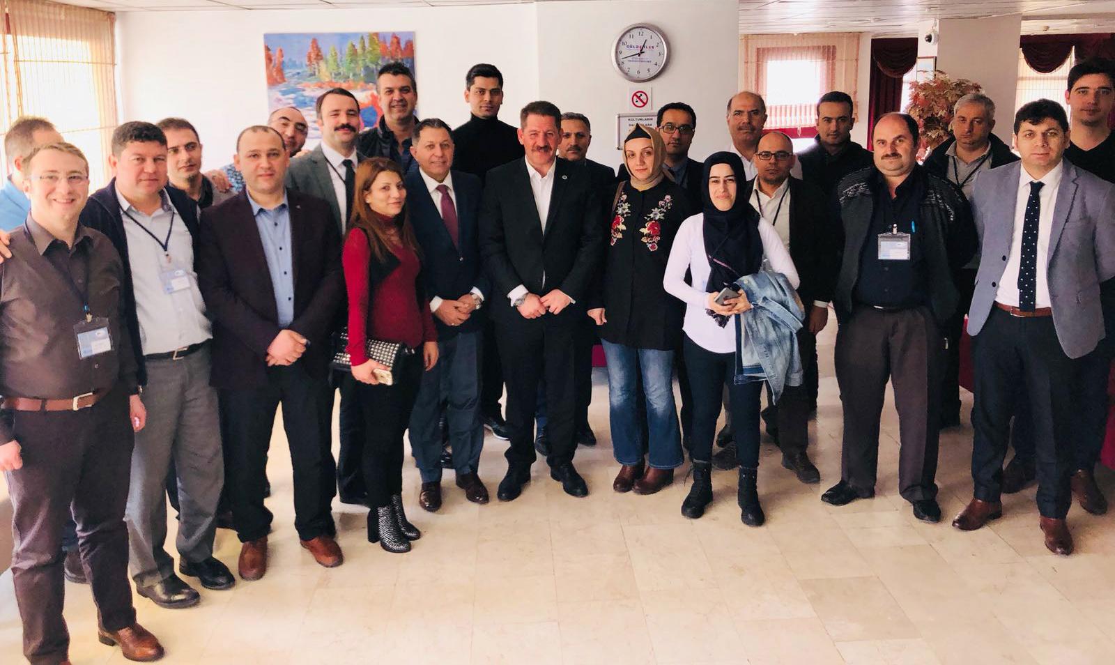 """Başkanlarımız PTT A.Ş.'nin Düzenlediği """"İSG"""" Eğitimini Ziyaret Ettiler"""