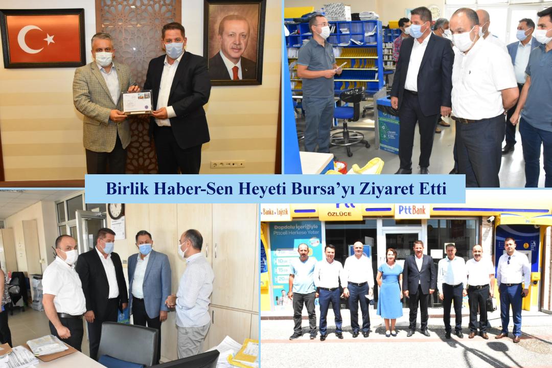 Birlik Haber-Sen Heyeti Bursa'yı Ziyaret Etti