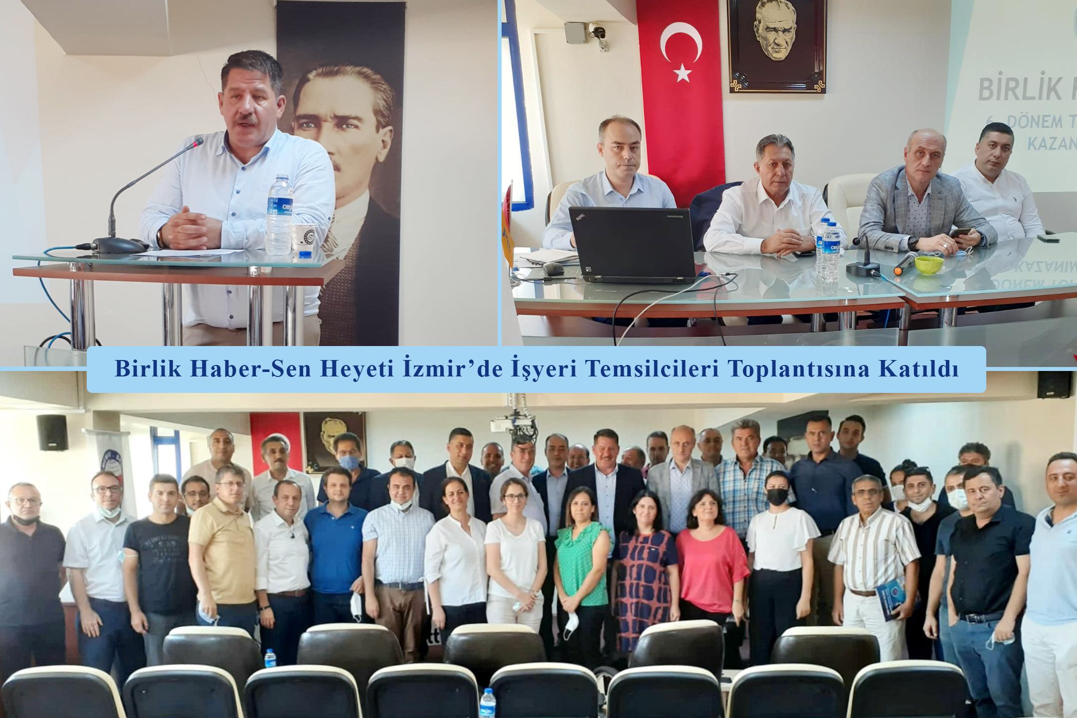 Birlik Haber-Sen Heyeti İzmir'de İşyeri Temsilcileri Toplantısına Katıldı
