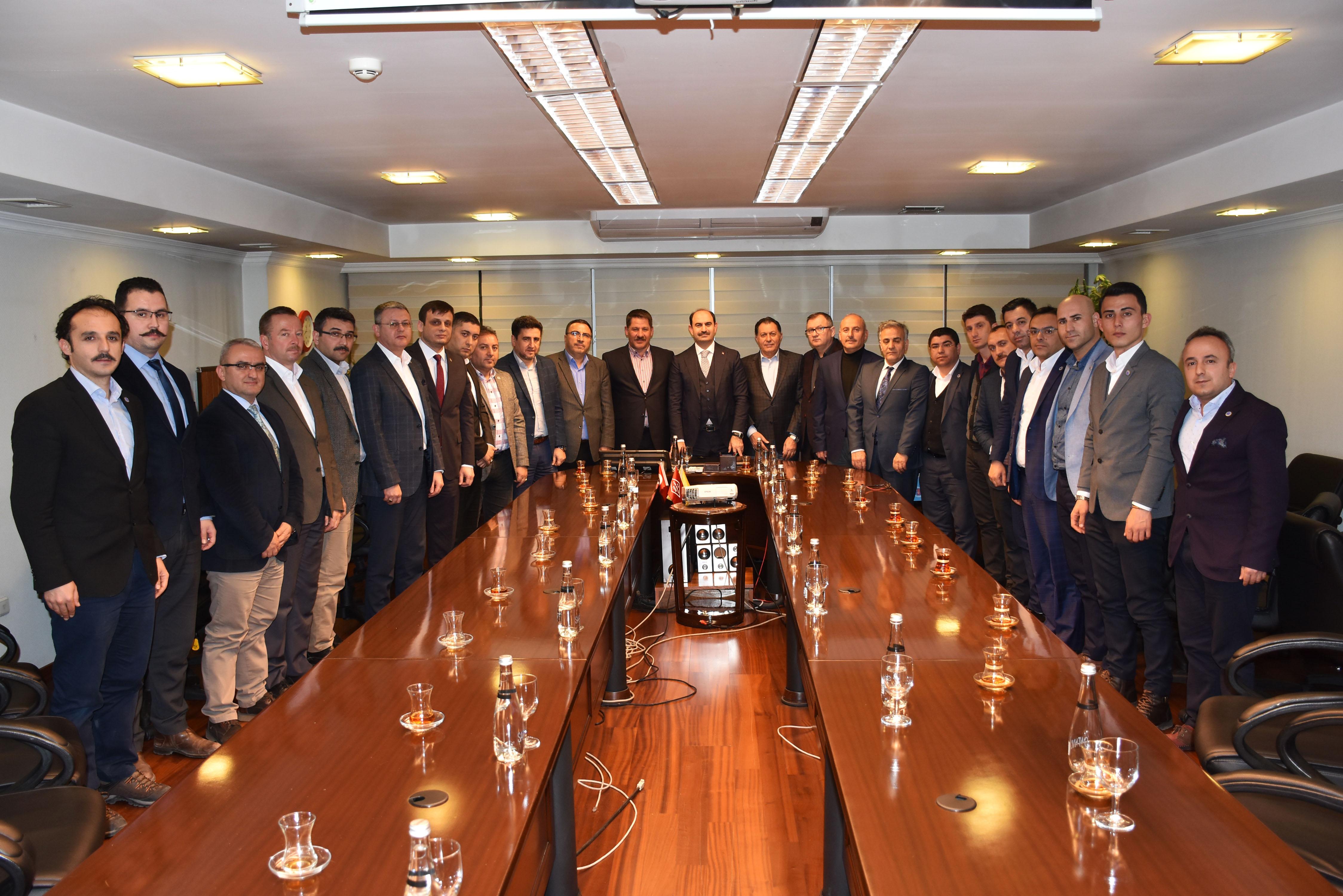 Birlik Haber-Sen Heyeti PTT A.Ş. Genel Müdürü Kenan Bozgeyik'i Ziyaret Etti