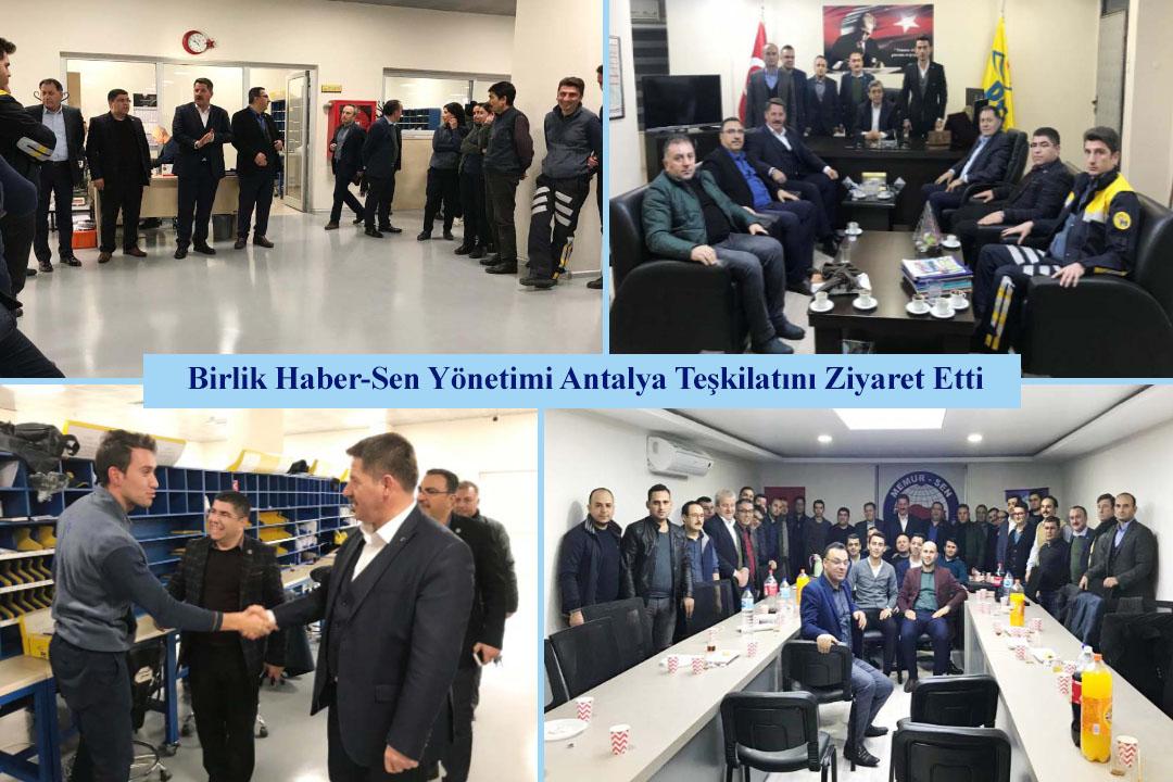 Birlik Haber-Sen Yönetimi Antalya Teşkilatını Ziyaret Etti