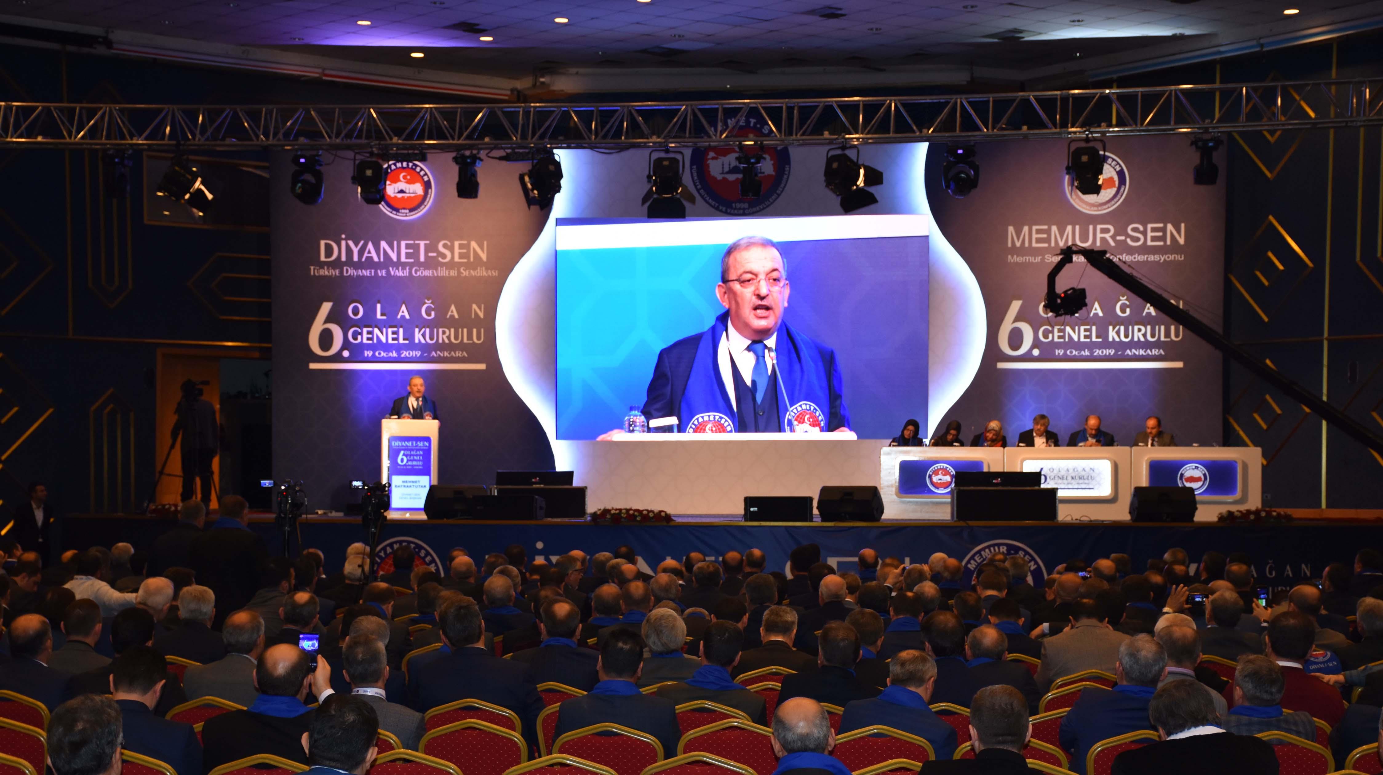 Birlik Haber-Sen Yönetimi Diyanet-Sen'in 6. Olağan Genel Kurulu'na Katıldı.