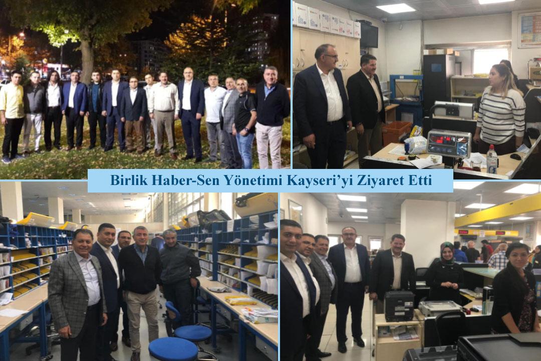 Birlik Haber-Sen Yönetimi Kayseri'yi Ziyaret Etti