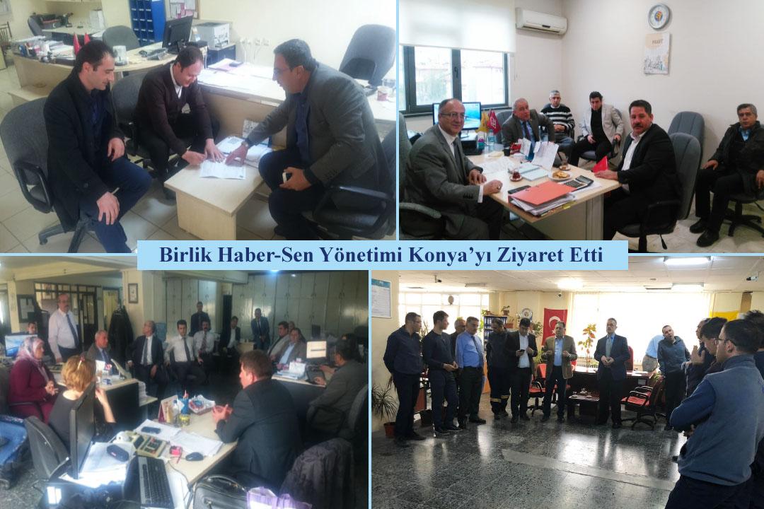 Birlik Haber-Sen Yönetimi Konya'yı Ziyaret Etti