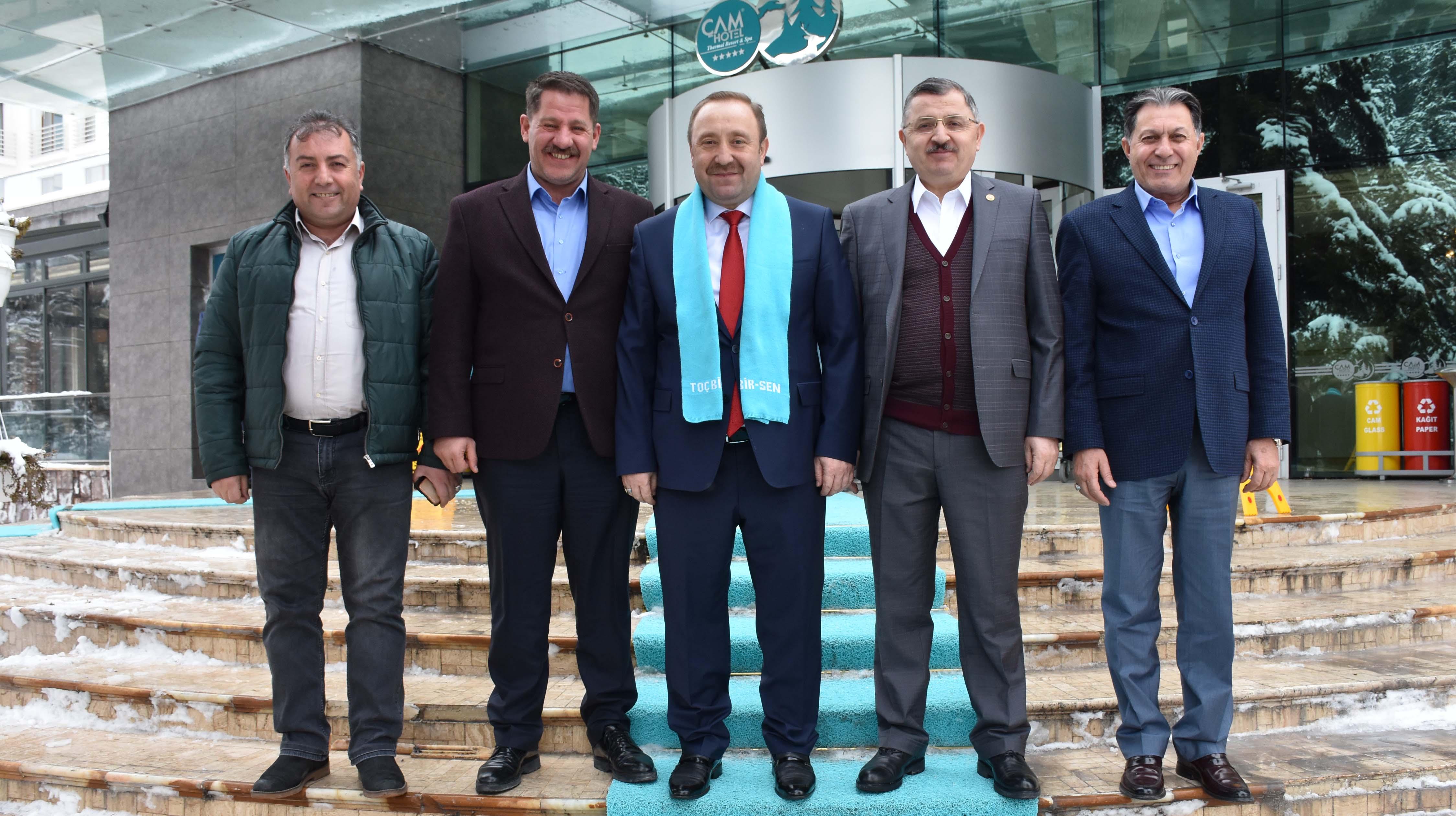 Birlik Haber-Sen Yönetimi Toç-Bir-Sen'in 6. Olağan Genel Kurulu'na Katıldı