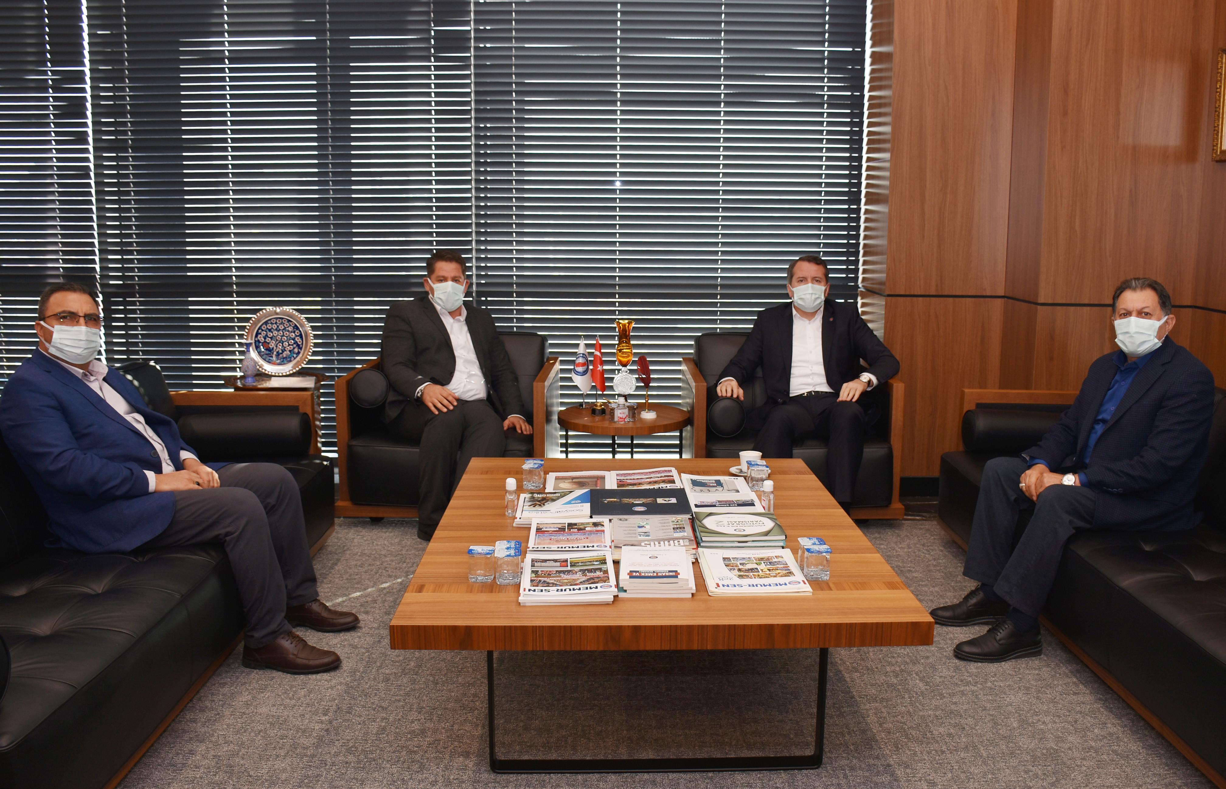 Birlik Haber-Sen'den Memur-Sen Genel Başkanı Yalçın'a Ziyaret