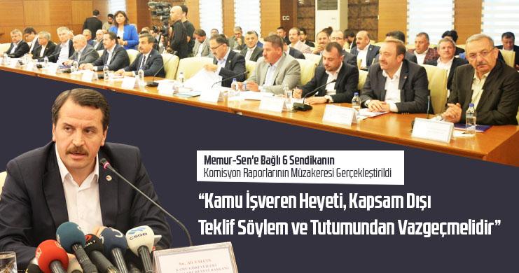 Birlik Haber-Sen'in Komisyon Raporunun Müzakeresi Gerçekleştirildi