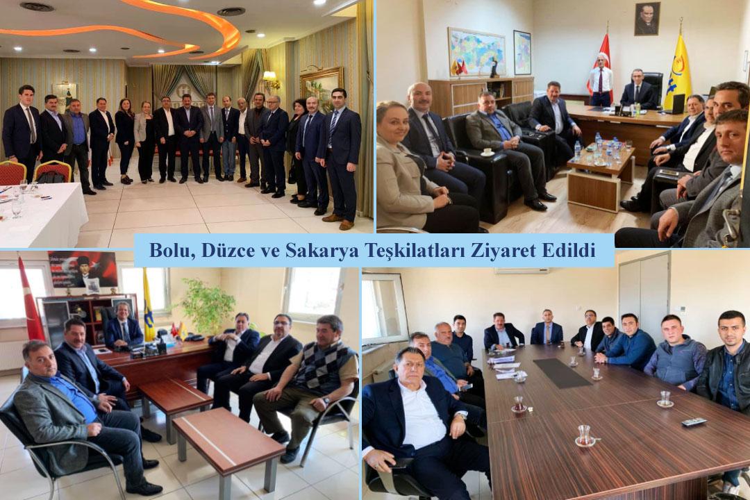 Bolu, Düzce ve Sakarya Teşkilatları Ziyaret Edildi