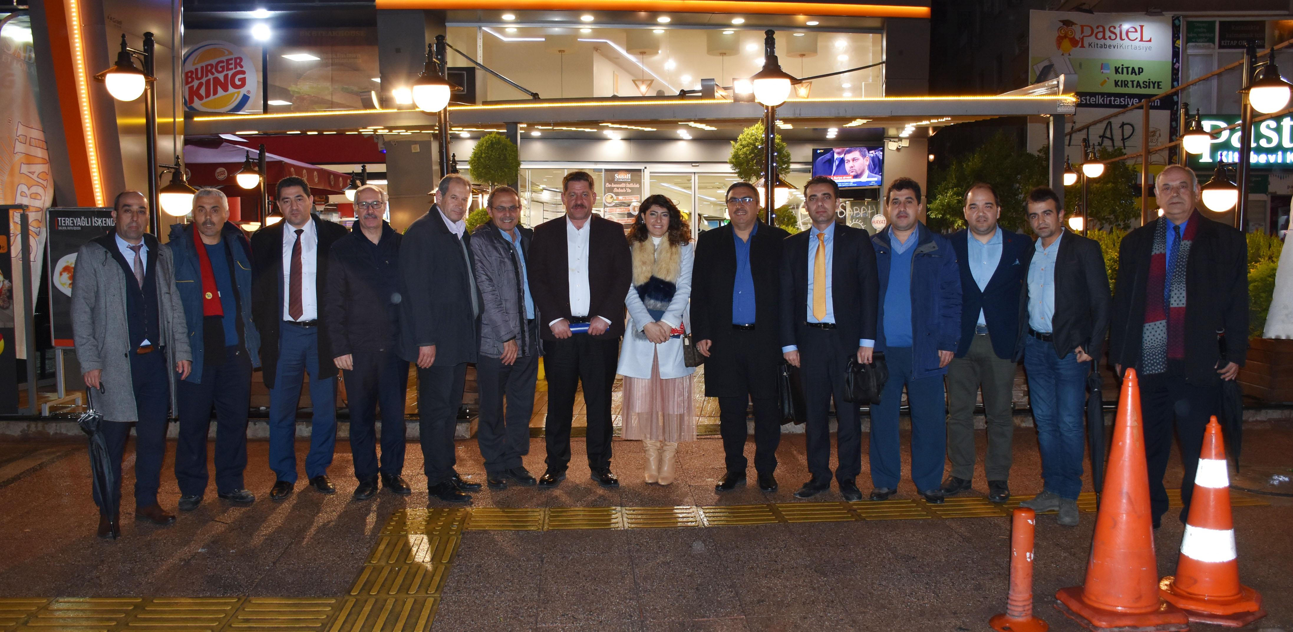 Budak ve Burgaç, Mersin Teşkilatını Ziyaret Etti