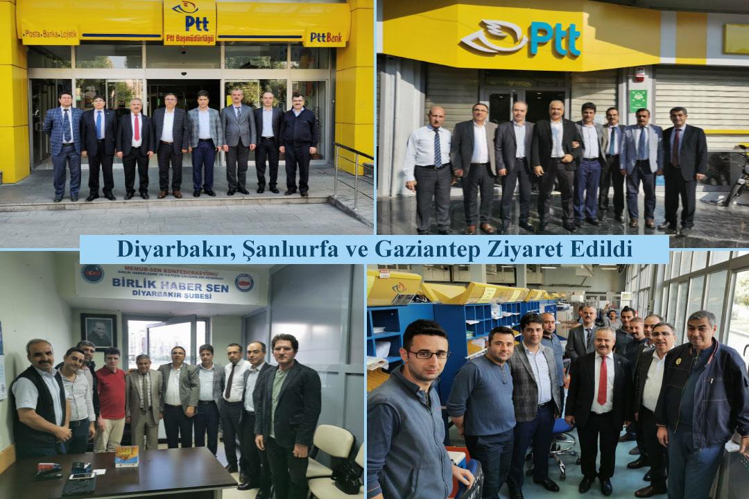 Diyarbakır, Şanlıurfa ve Gaziantep Ziyaret Edildi