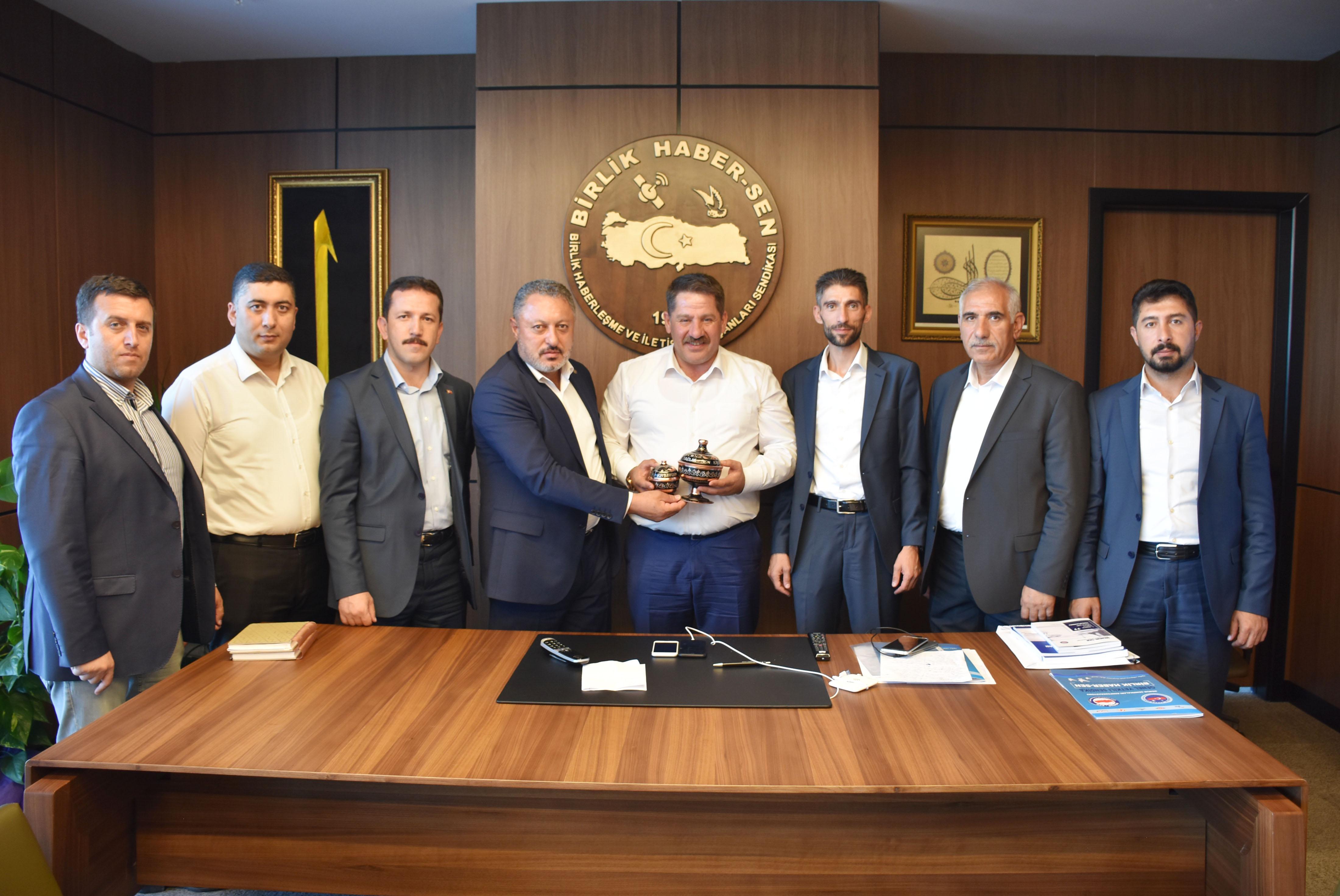 Erzurum Sağlık-Sen'den Budak'a Hayırlı Olsun Ziyareti