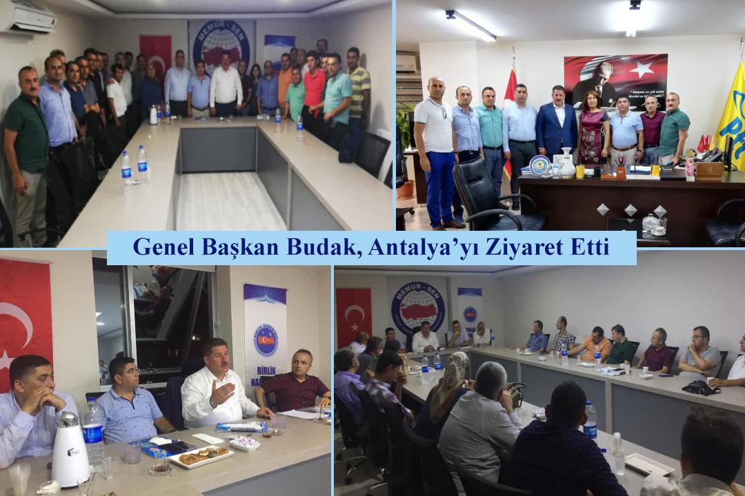 Genel Başkan Budak, Antalya'yı Ziyaret Etti
