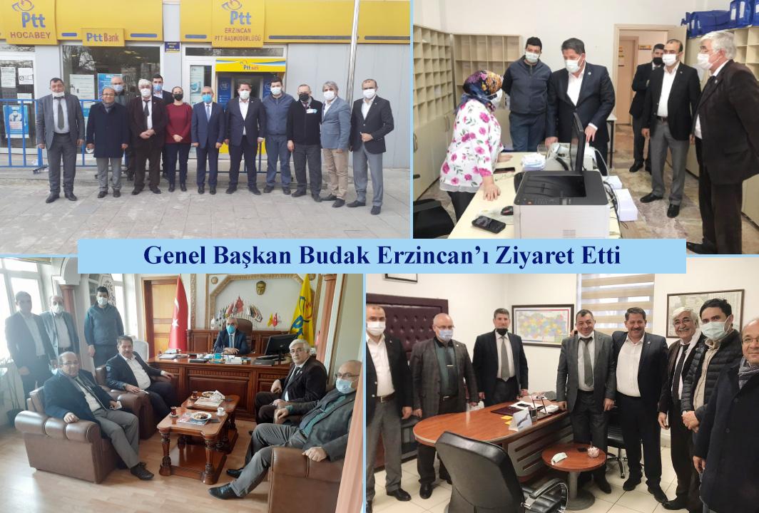 Genel Başkan Budak Erzincan'ı Ziyaret Etti