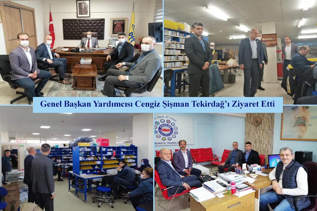 Genel Başkan Yardımcısı Cengiz Şişman Tekirdağ'ı Ziyaret Etti