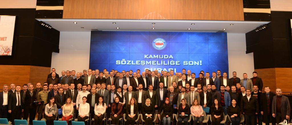 """""""Kamuda Sözleşmeliliğe Son Şurası"""" Gerçekleştirildi"""