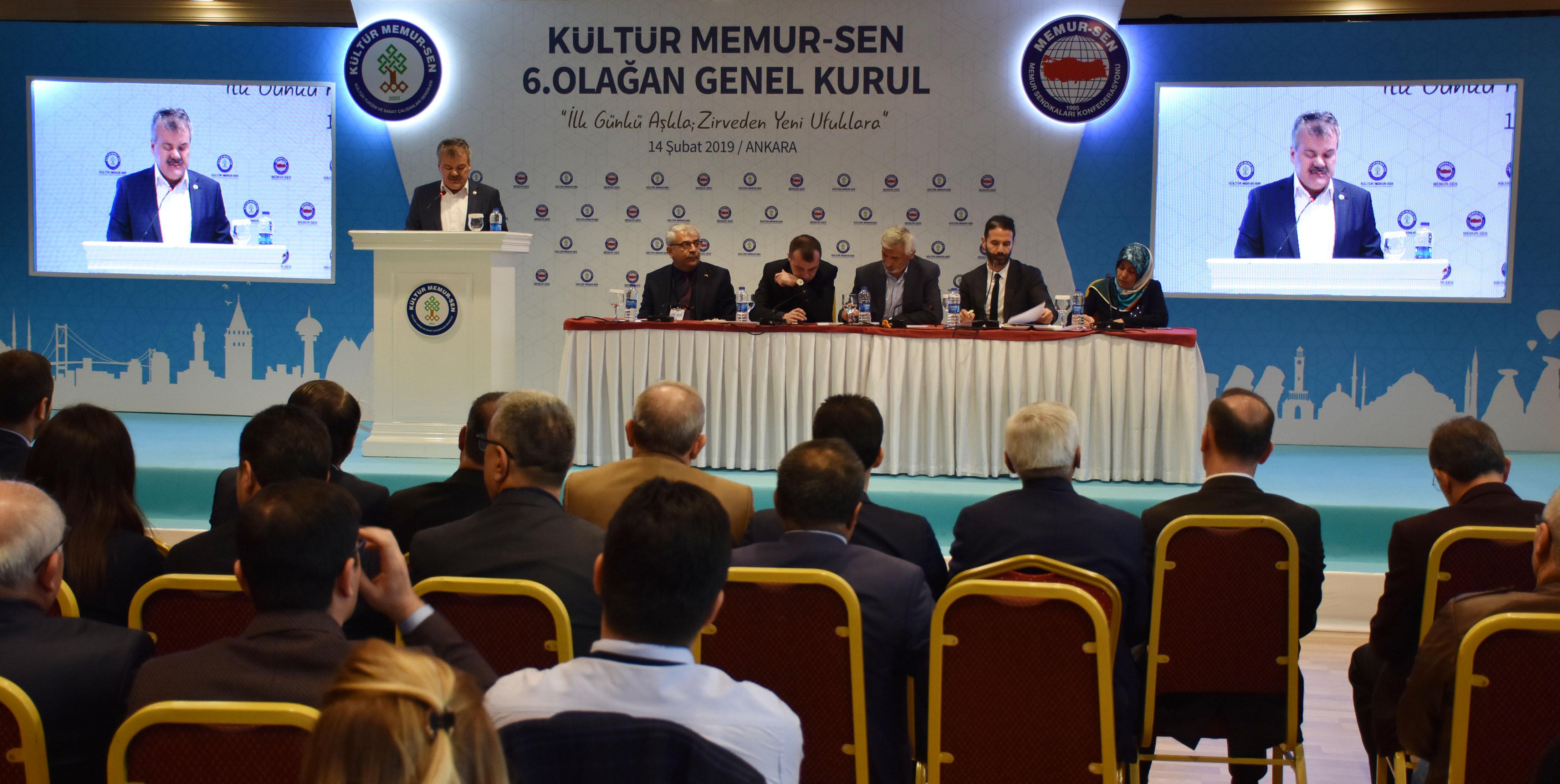 Kültür Memur-Sen 6. Olağan Genel Kurulu Gerçekleştirildi
