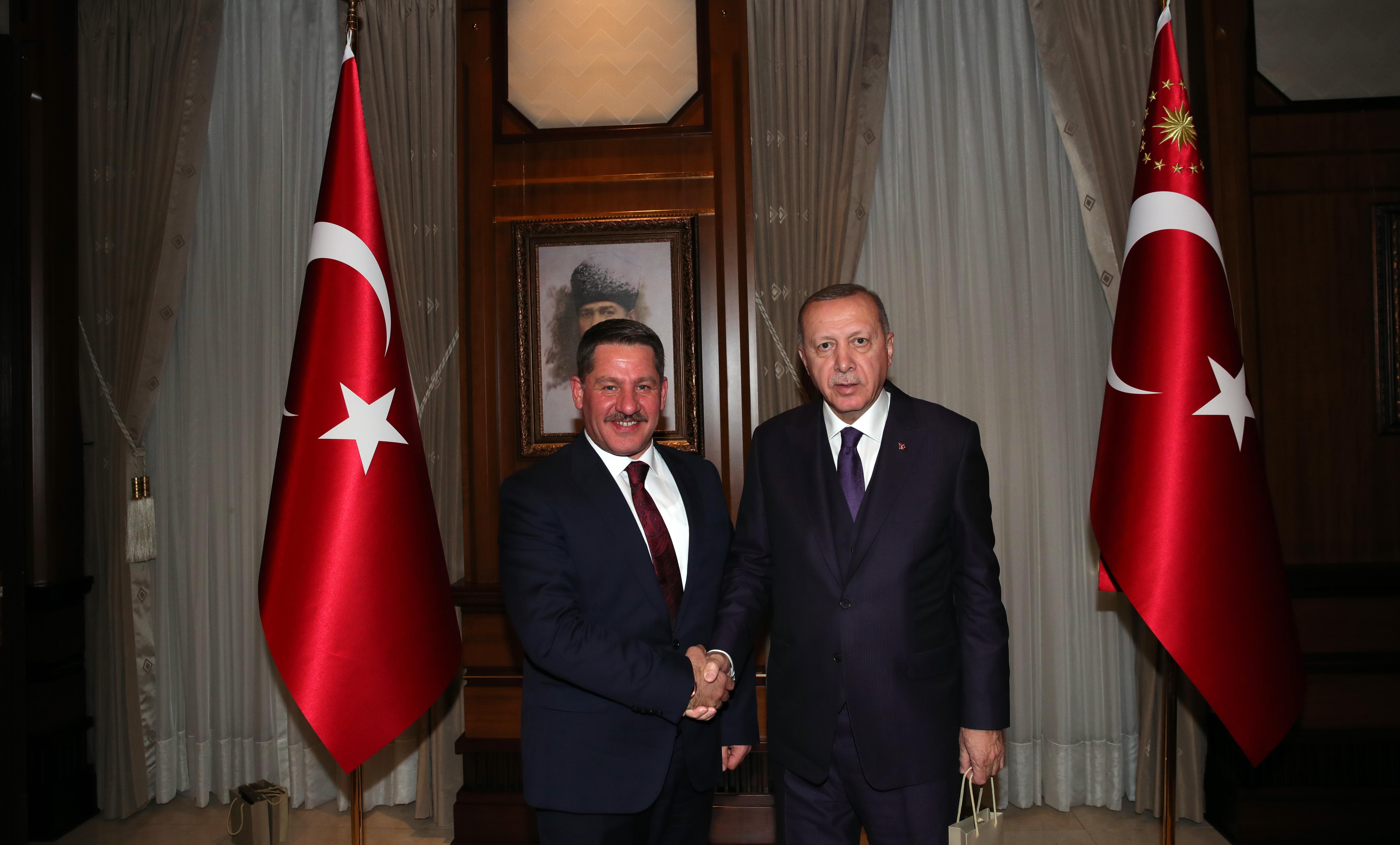 Memur-Sen Heyeti Cumhurbaşkanı Erdoğan'ı Ziyaret Etti