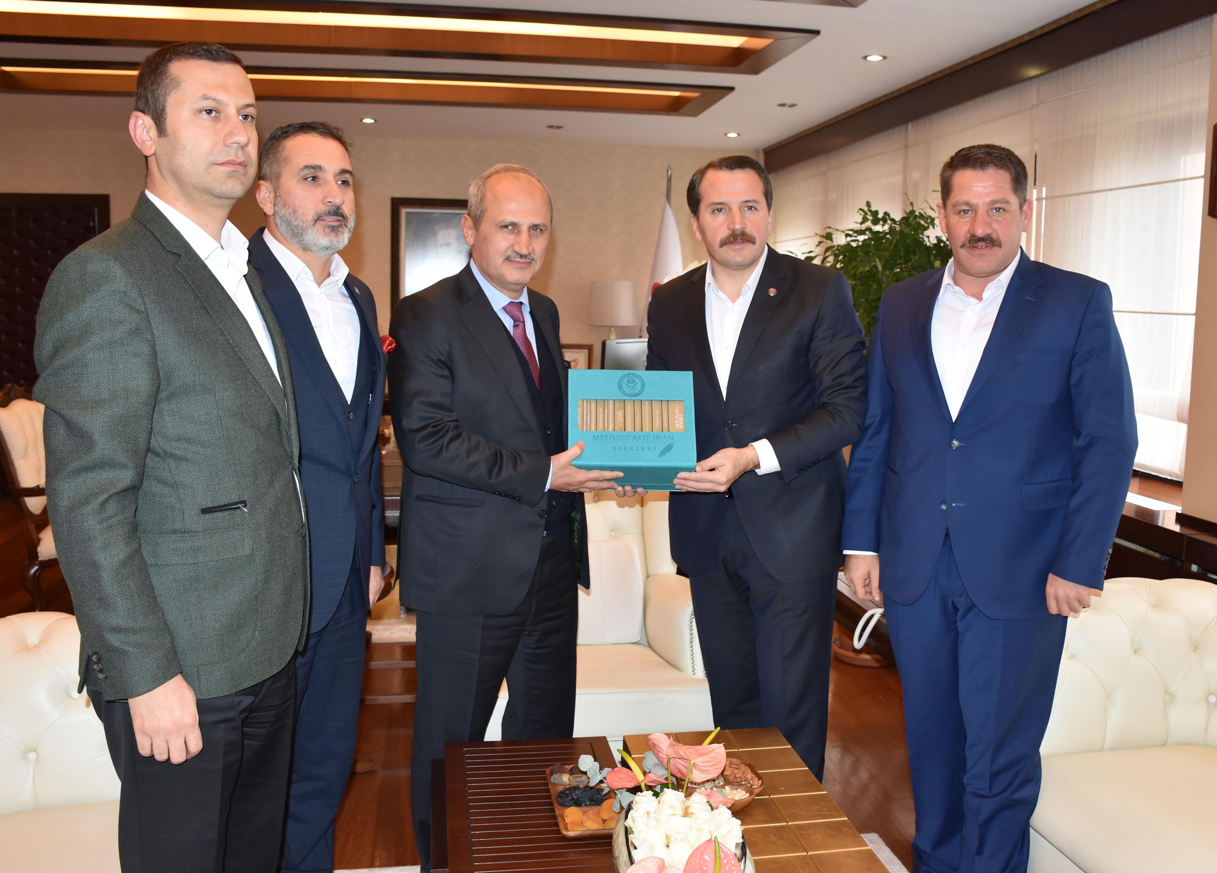 Genel Başkan Budak'tan Bakan Turhan'a Ziyaret