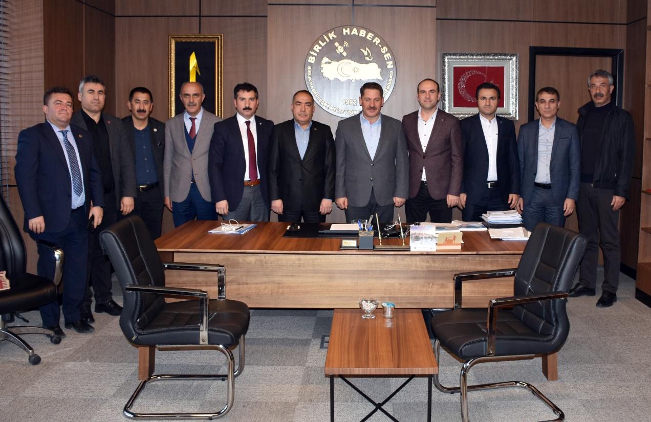 Memur - Sen Kırşehir İl Temsilciliğinden Birlik Haber-Sen' e Ziyaret